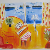 Yellow Piano  - SOLD