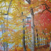 Beech Trees on the River - $16,000.