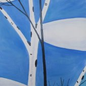 Blue Sky Birches - $8000