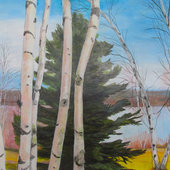 Friendship Birches II - Sold